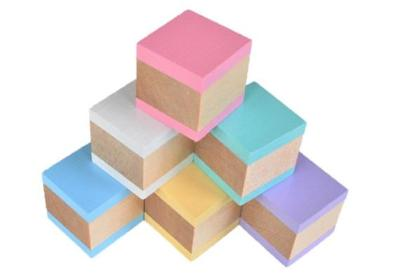 Wooden Building Blocks - Pastel Rainbow - Set of 6