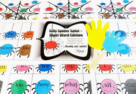 Silly Spider Splat - Sight Words