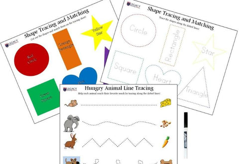 Shape and Line Tracing Activity Set