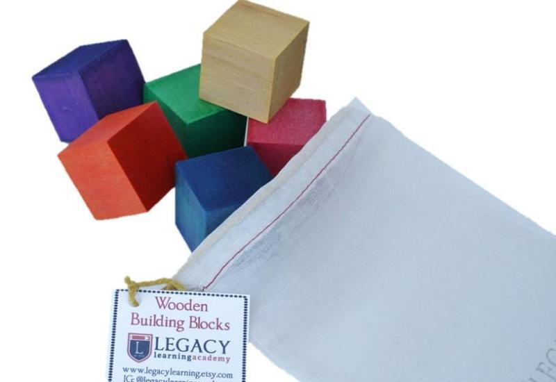 Watercolor Building Blocks - Set of 6