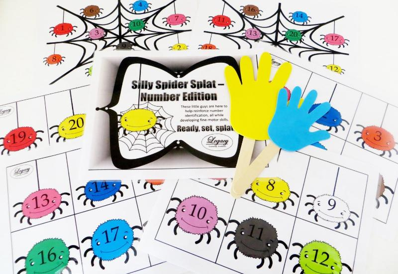 Silly Spider Splat - Numbers