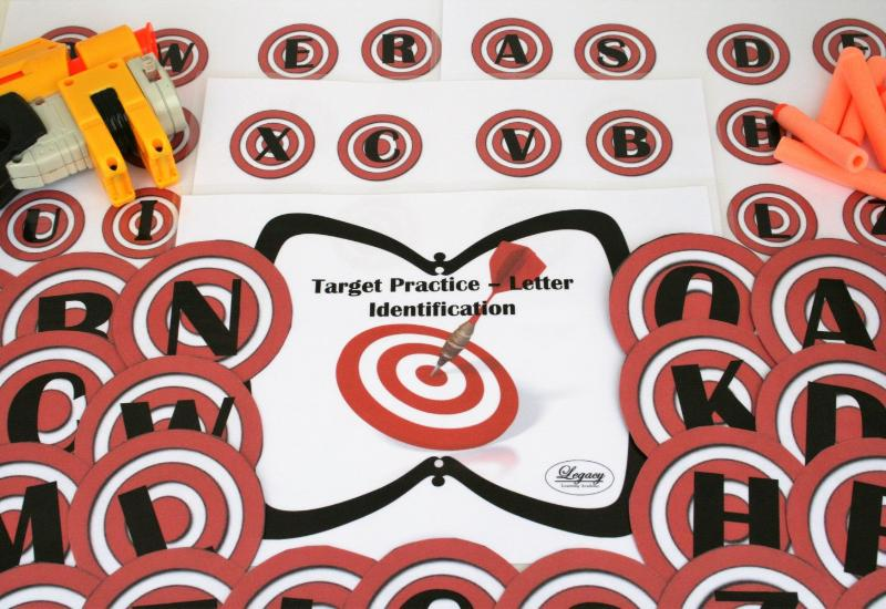 Nerf Target Practice - Letters