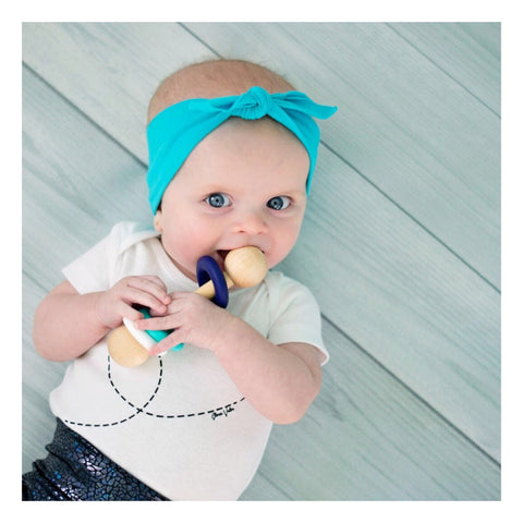 Magic Rattle - Navy, Teal, and White