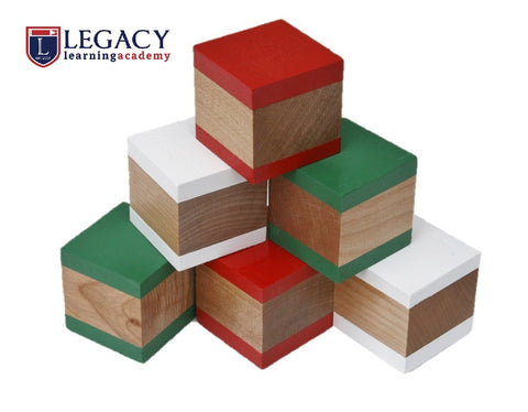 Wooden Building Blocks - Christmas - Set of 6