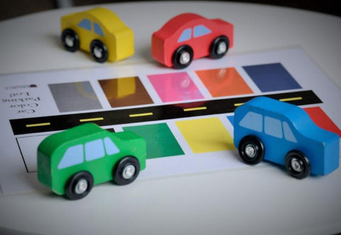Car Color Parking Lot Activity Mat