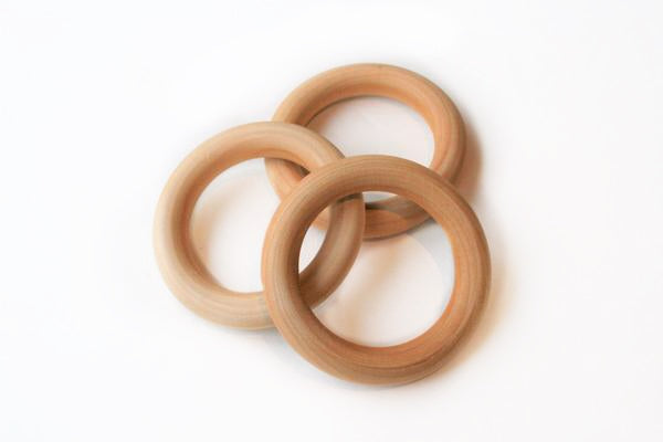 Set of 3 Teething Rings w/ All-Natural Sealant