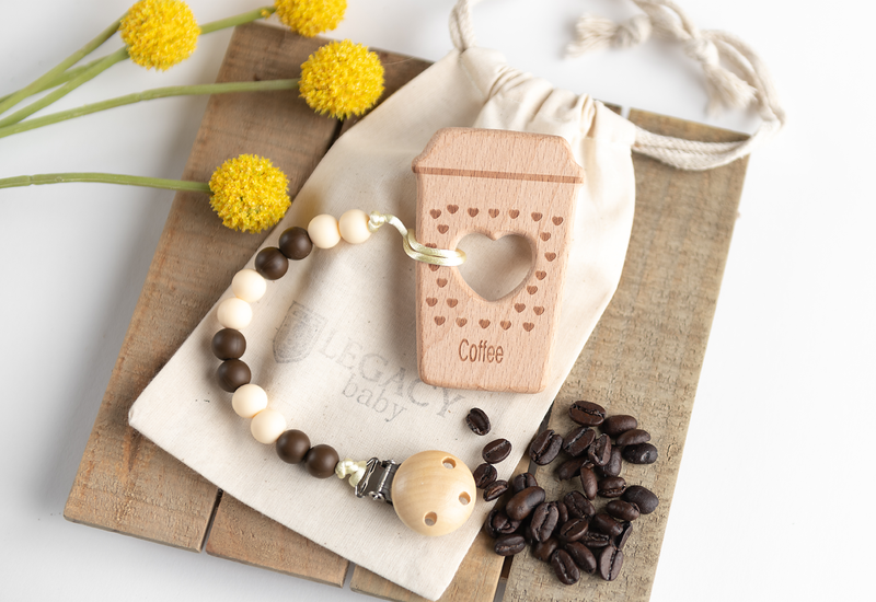 Coffee Lovers Teething Gift Set