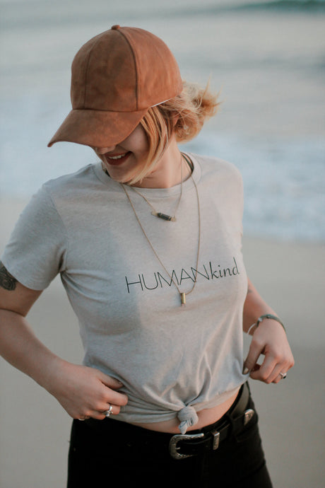 Womens Fitted Crew HUMANkind Tee