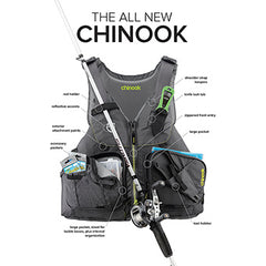 Image of NRS Chinook Fishing Life Jacket PFD
