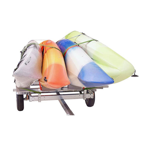 Malone EcoLight 4 Boat Stacker Kayak Trailer Package