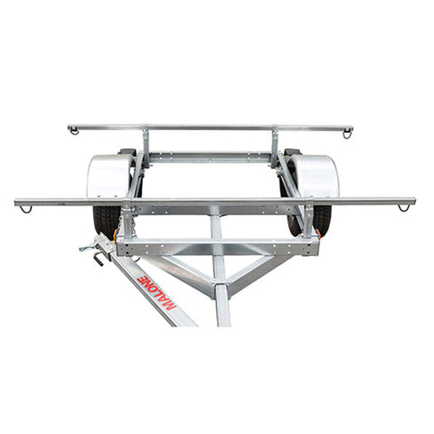Malone LowMax 4 Kayak Trailer Package w/ 2 Stackers & 4 Sets Rack Pads