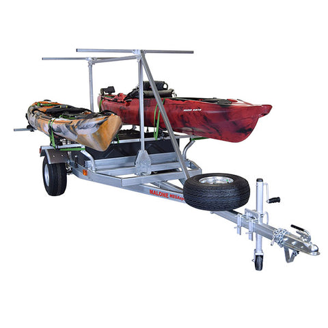 Malone MegaSport 2 Boat w/ Storage & 2nd Tier Trailer Package