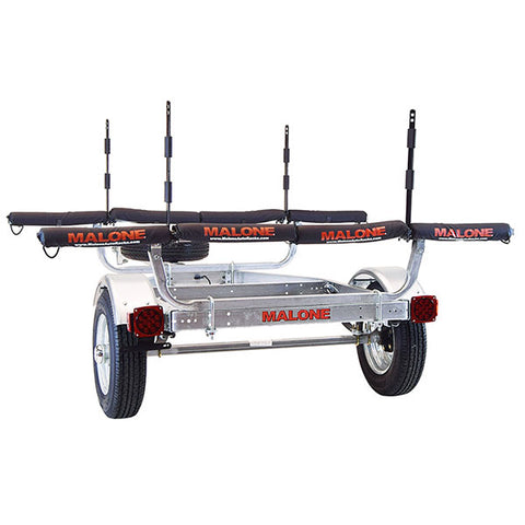 Malone MicroSport 4 Kayak Spare Tire Trailer Package