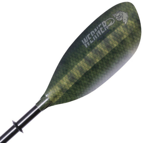 Werner Shuna Hooked Straight Shaft Fishing Kayak Paddle - Eco Fishing Shop