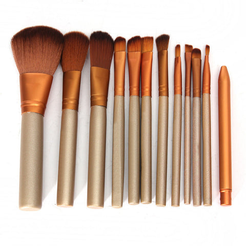 Sunset Gold 12 Piece Wrap Brush
