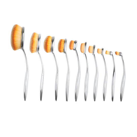 Pearly Goddess 10 Piece Oval Brush