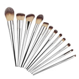 Silver Goat 12 Piece Wrap Brush