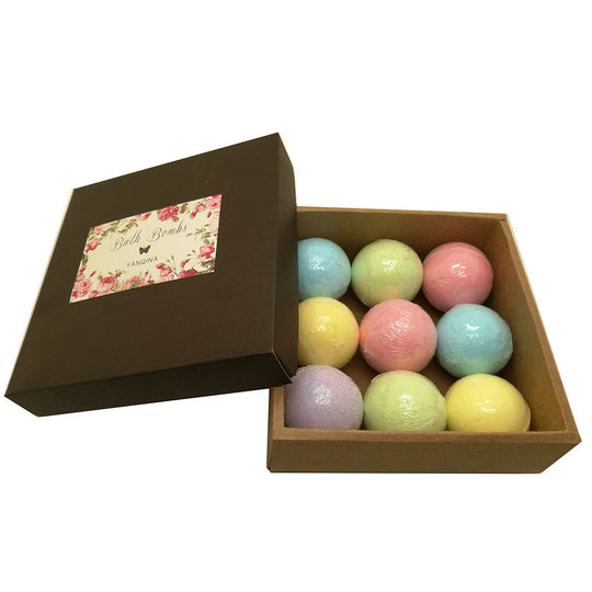 Relax Time 9 Piece Medium Bath Bomb Package
