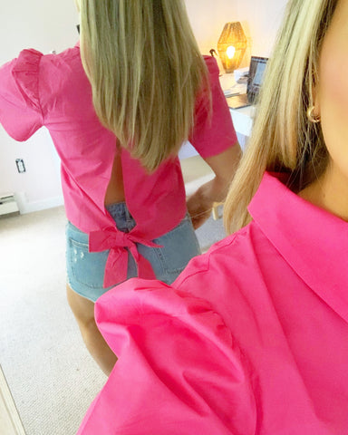 Pink Object Rare Top with Open Back