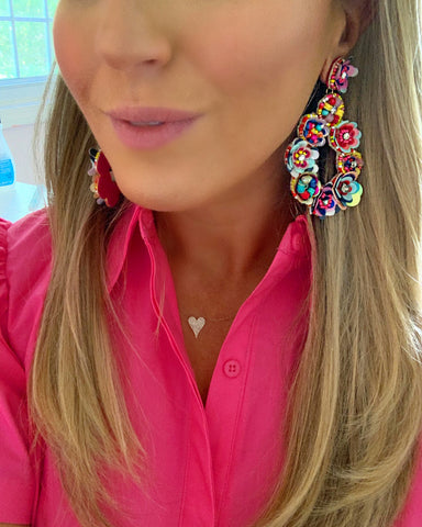 StephieChic Colorful Statement Earrings