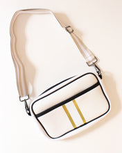 Off White & Gold Neoprene Crossbody