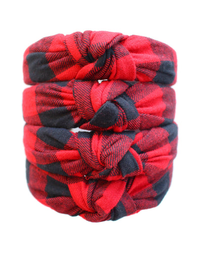 Buffalo Check Knotted Headband