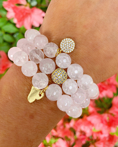 StephieChic Charity Collection: Rose Quartz Bracelets for Dana Farber Cancer Institute