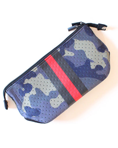 Camo Red Stripe Neoprene Travel Bag