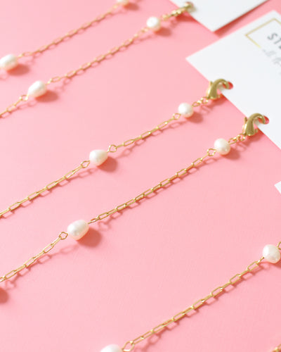 Pearl & Gold Mask Chain