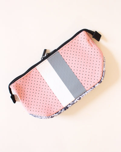 Light Pink & White/Gray Neoprene Travel Bag