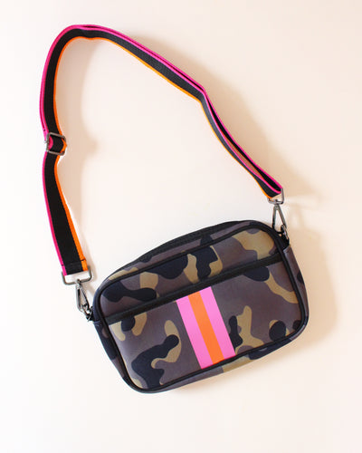Camo Stripe Neoprene Crossbody