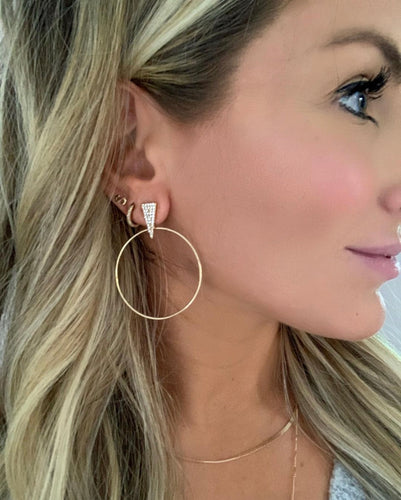 Monica Gold Earring
