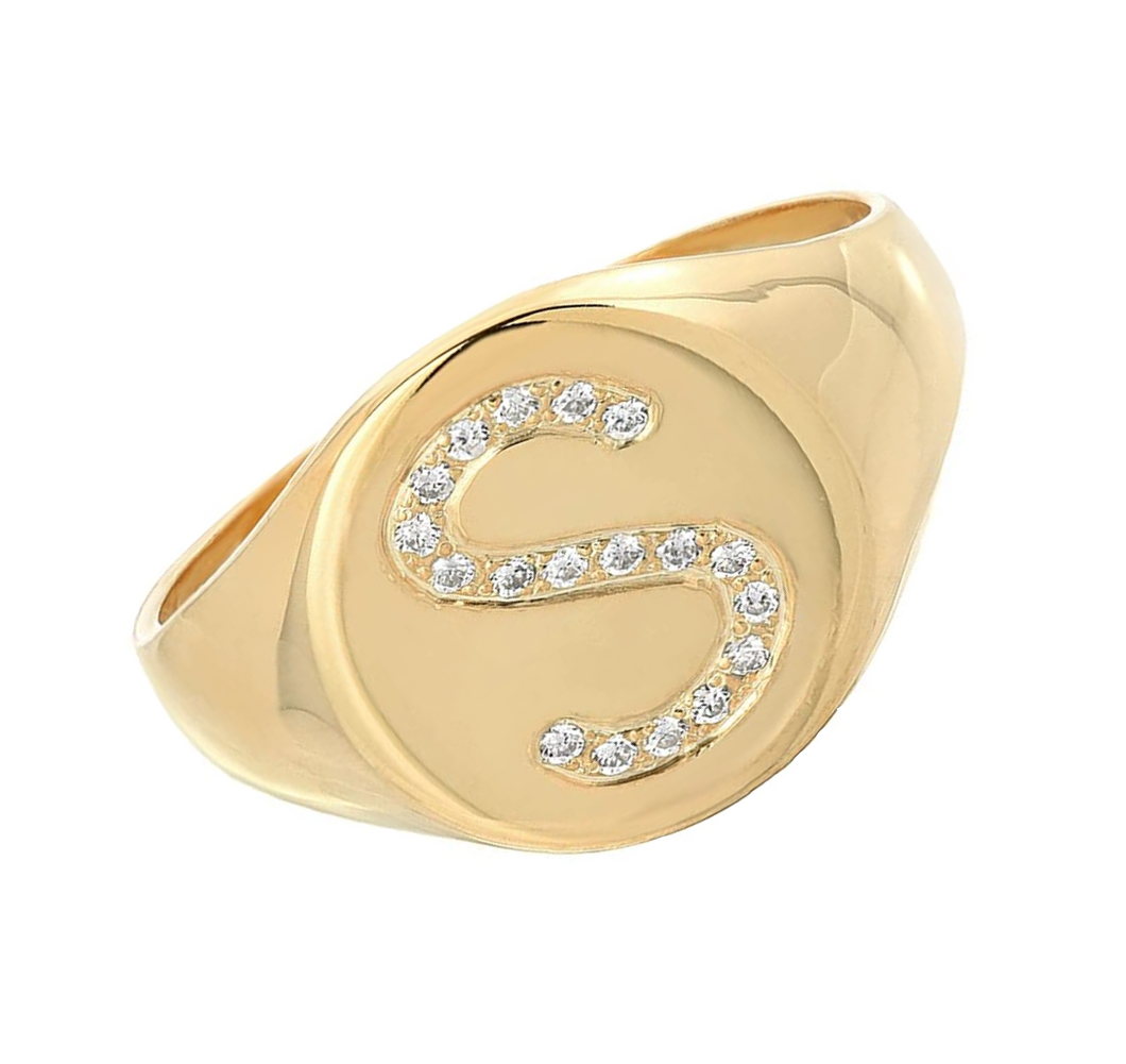Signet Statement Initial Diamond Ring