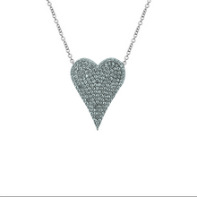 Medium Elongated Diamond Heart Necklace