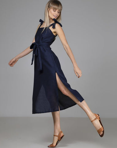 Organic Bamboo Essie Dress Navy