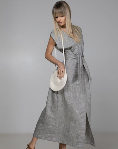 Linen Sophie Wrap Dress