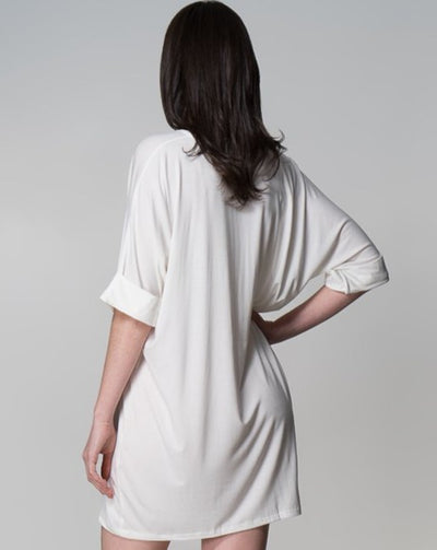 MM Top Indecisive Back View White Australian Made Organic Bamboo Sustainable Fashion eco friendly