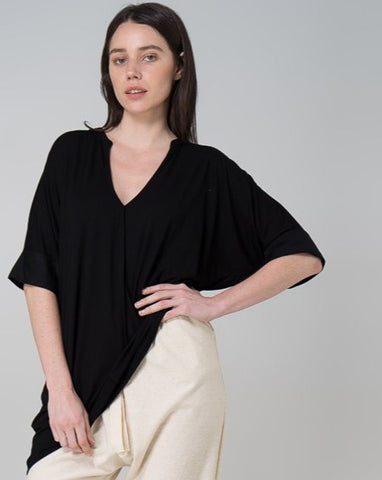 Black Linen Bailey Blouse
