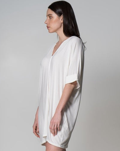 MM Top Indecisive Side View White Australian Made Organic Bamboo Sustainable Fashion eco friendly