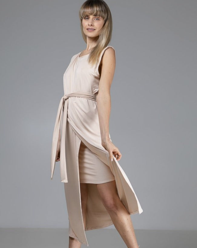 Organic Bamboo Sophia Dress Nude