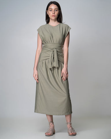 Linen Chicago Dress Black