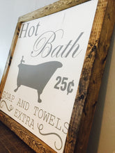 Vintage BathroomWood Sign