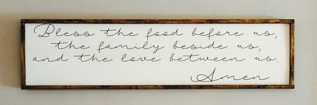 Bless The Food|Wood Sign