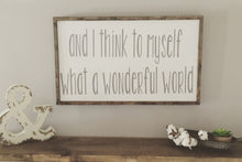 What A Wonderful World|Wood Sign