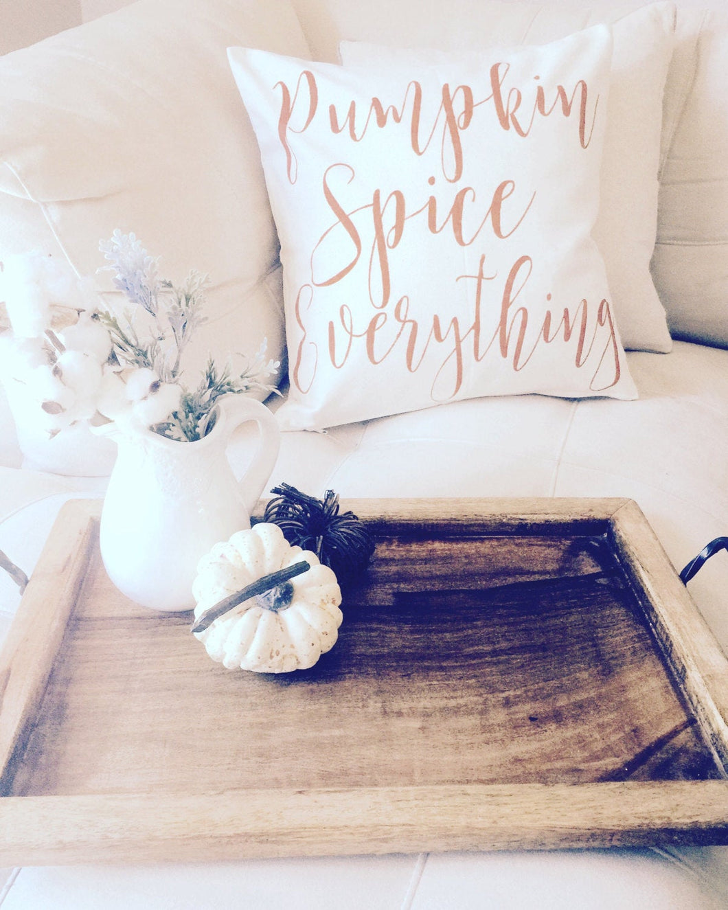 Pumpkin Spice Everything|Pillow Cover