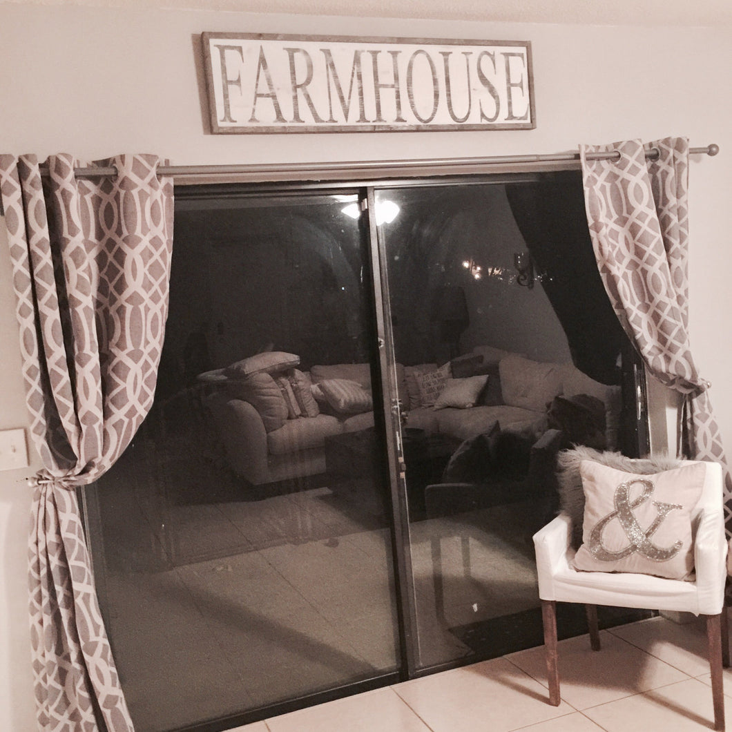 Farmhouse | Large Wood Sign