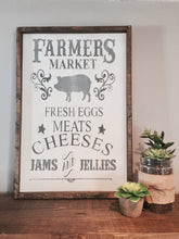 Farmers Market|Wood Sign