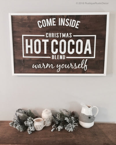 Hot Cocoa Christmas | Wood Sign