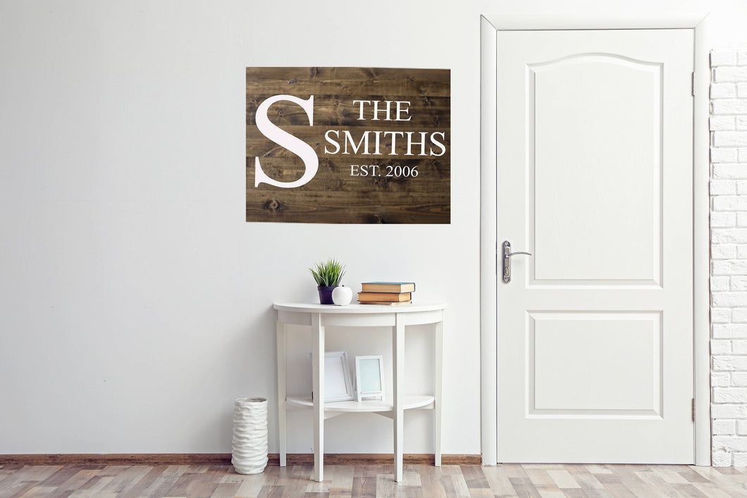 Personalized Wood Sign|Minimalist