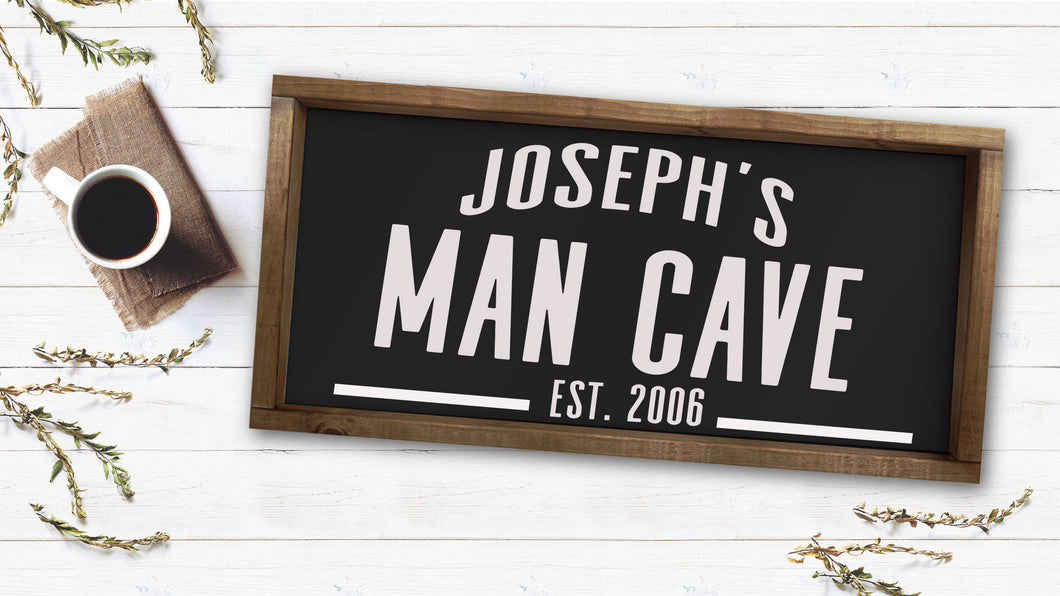 Personalized Man Cave|Wood Sign